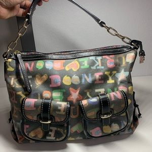 Dooney & Bourke Graffiti Crayon handbag authentic